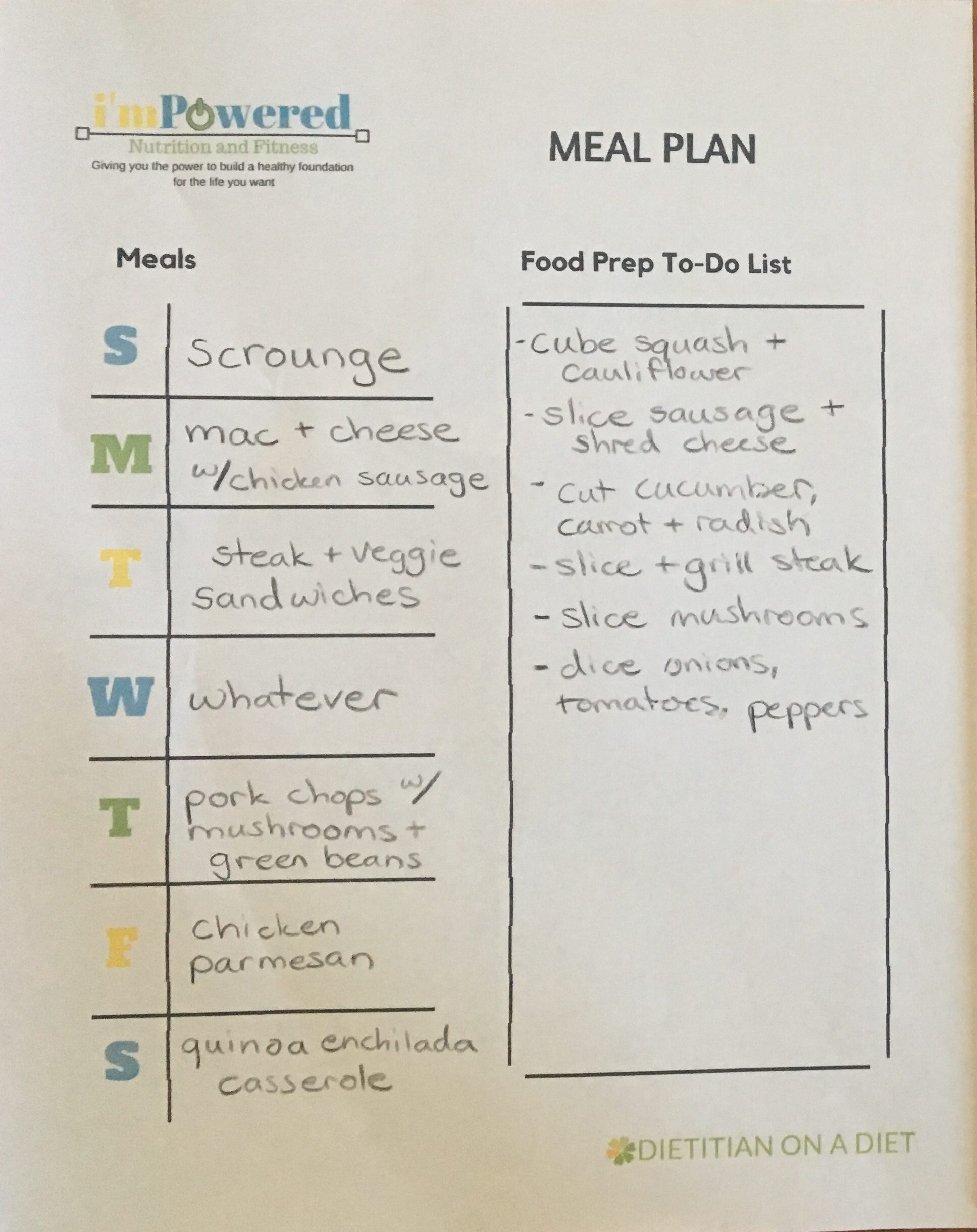 budget meal plan
