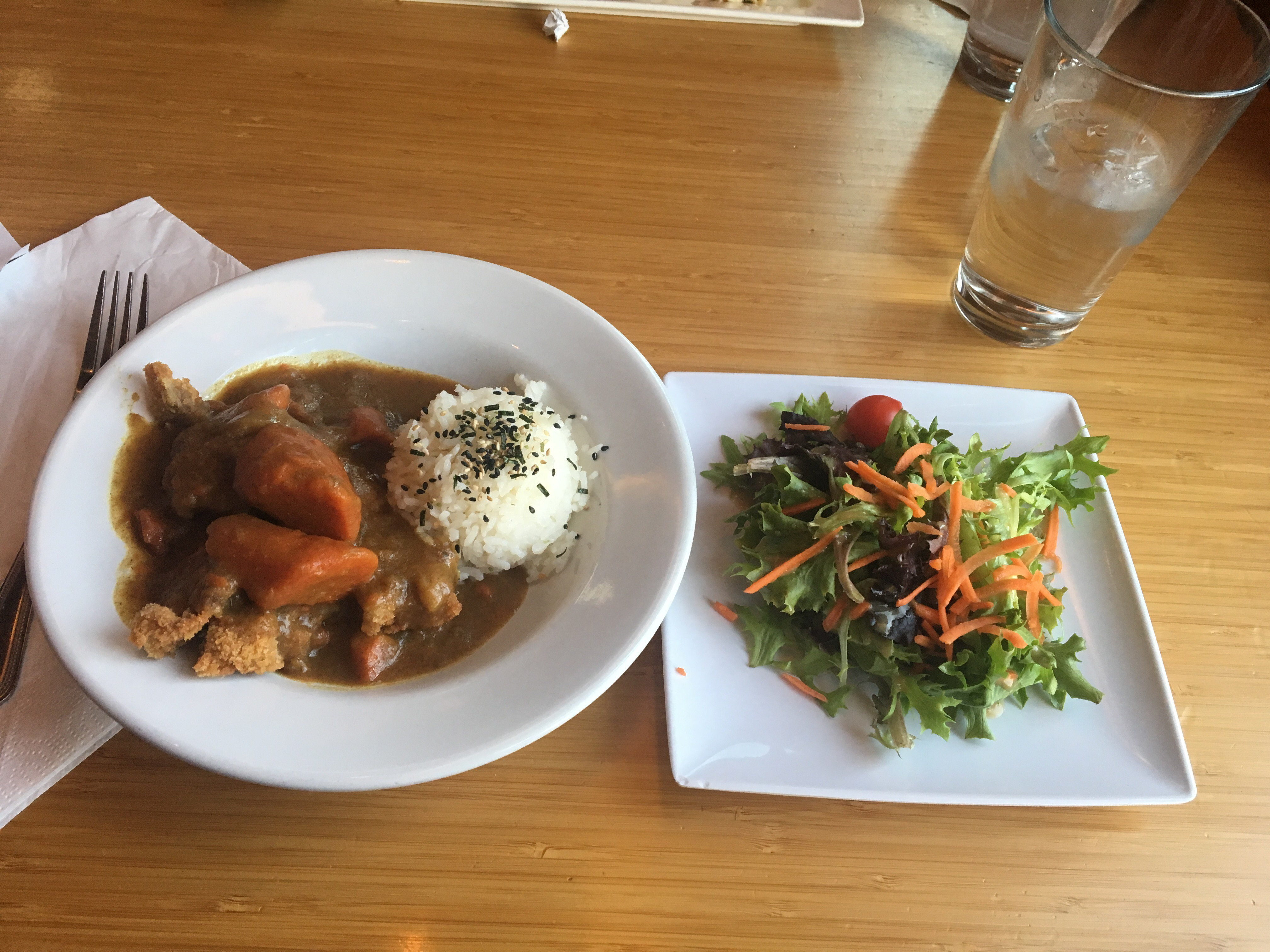 liver friendly Japanese curry and salad