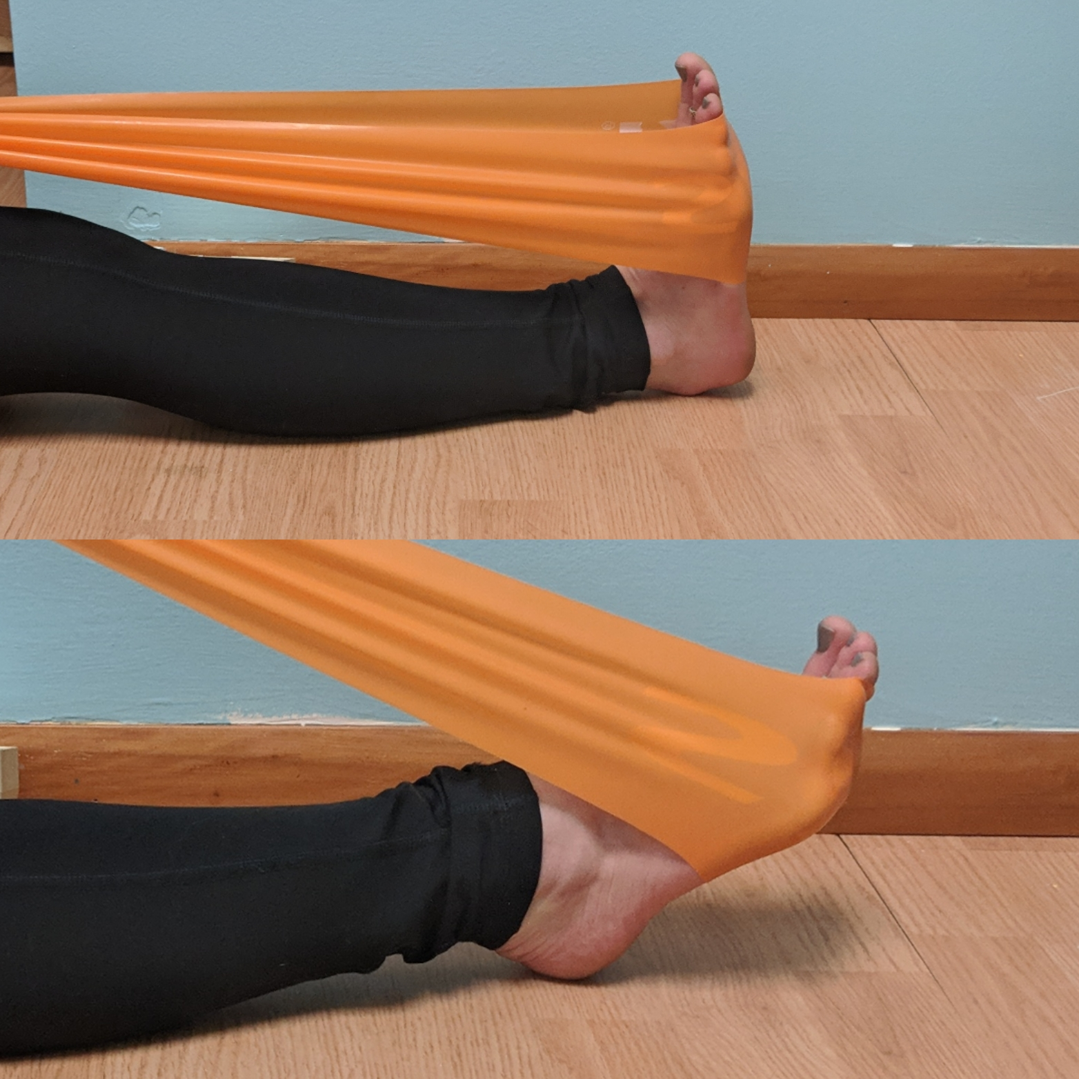 ankle flexion exercise for backpacking