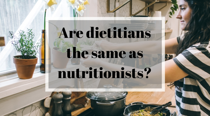 Are dietitians the same as nutritionists?