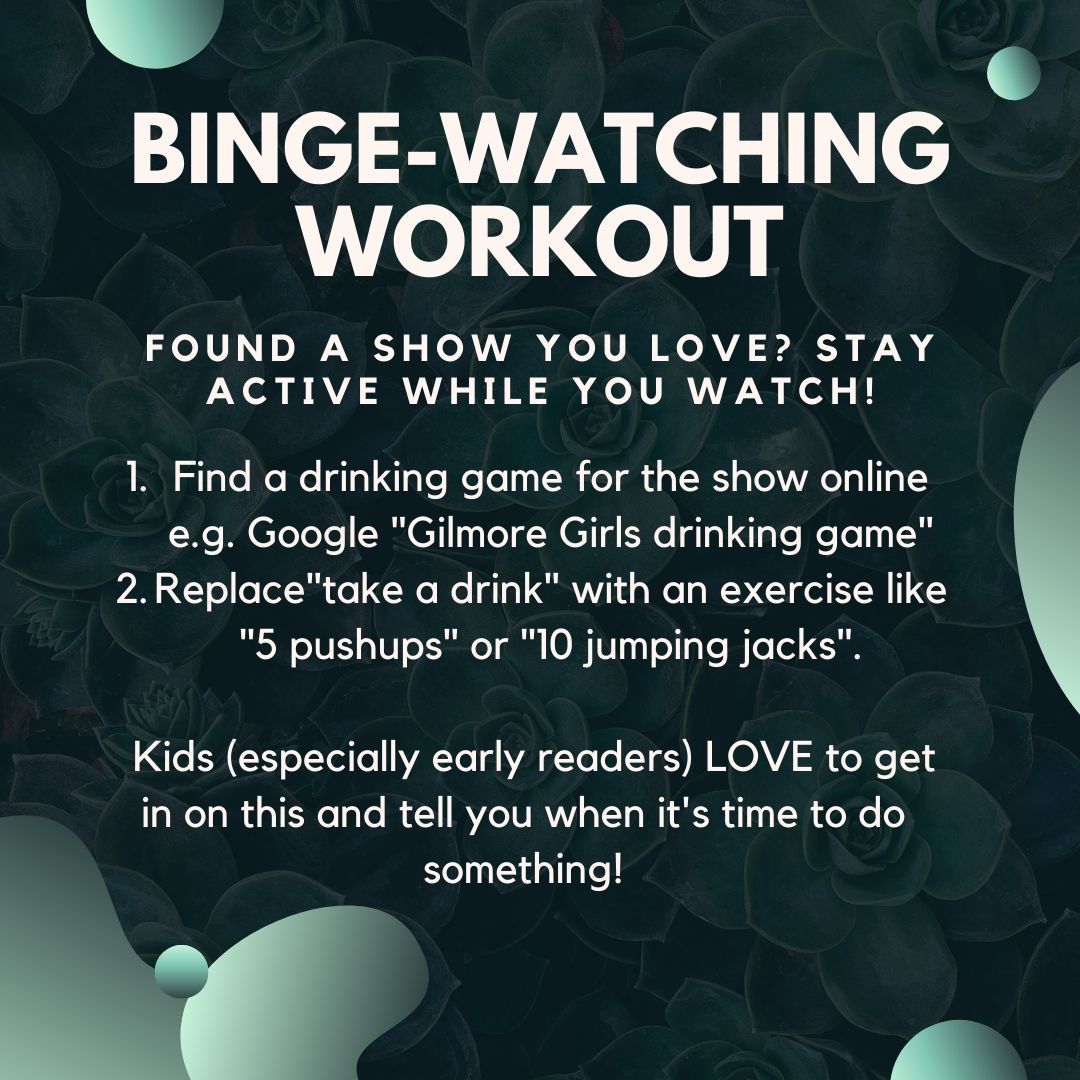 how to create a binge watching workout for your favorite tv show