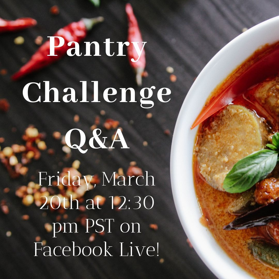 advertising Facebook Live pantry challenge